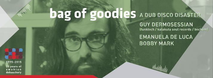 Flyer: 24.07.2015 - bag of goodies feat. Guy Dermosessian - Jazzkeller, Tübingen